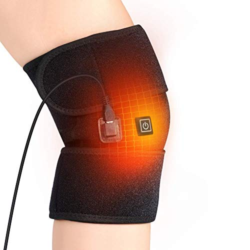 Knee Heating Pad, Heating Knee Brace Support for Arthritis, Heated Knee Wrap Thermal Therapy to Warm Joint Relief Pain of Knee Stiff, Arthritis, Strains, Fits Men and Women Knee Calf Leg Arm