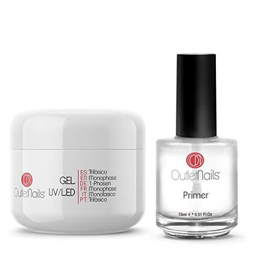 UV Gel Trifasico 3en1 50ml + Primer 15ml sin acido