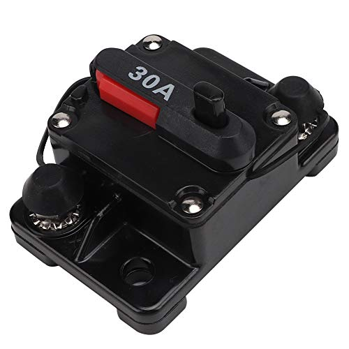 Disyuntor para automóvil, 12V 30A / 40A / 60A Restablecimiento de audio estéreo para automóvil Inline Disyuntor Interruptor de recuperación automática Fusible(30A)
