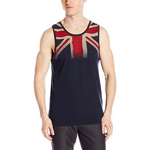 Ben Sherman Men's UK Union Jack Tank Top, Navy Blazer, Medium
