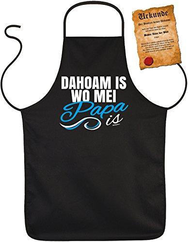 Perfect geschenk voor vaderdag barbecueschort Vaderdag Vaderdag Papa Dad Paps geschenk Grill schort verjaardag - Dahoam is waar mei papa is