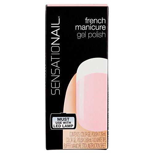 SensatioNail barniz Gel Semi Permanente French Sheer Pink 2piezas de 11,08ml