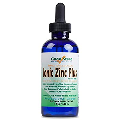 Good State Liquid Ionic Zinc Ultra - Ultra Concentrate (10 Drops Equal 15 mg - 200 Servings per Bottle) …