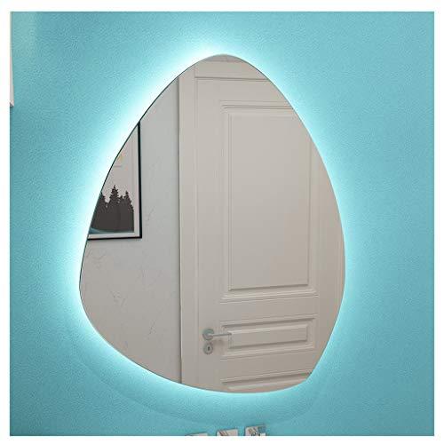 Specchio da bagno a LED irregolare, specchio cosmetico retroilluminato senza cornice con pellicola antideflagrante, specchio decorativo luminoso a parete per soggiorno, camera da letto e ingresso