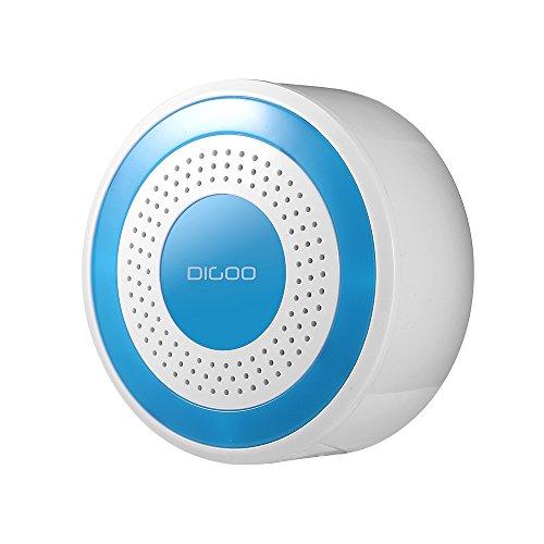 Digoo DG-ROSA 433MHz Funk-Alarmanlage, drahtlos, Heimsicherheitssystem, Multifunktionssystem, Host- und Sirene