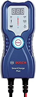 Bosch Smart Charge-PLUS (Blue) Battery Charger/Maintainer : 6/12V; 3.8 A; for passenger vehicles, classic cars, motorcycles, boats, ATVs, snowmobiles and delivery vehicles