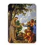Art247 - The Legend of the Mule and Saint Anthony of.. - Tapis de souris - Tapis de souris en caoutchouc naturel de qualità supÃrieure - Mouse Mat