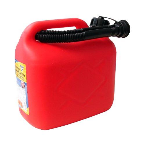 Bidon de carburant, 5litres, PVC rouge, certification UN