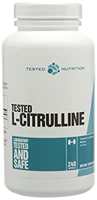 Tested Nutrition L Citrulline Capsules - Pack of 240