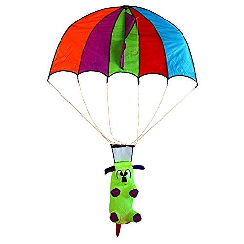 Cacoffay Estéreo Dibujos Animados Perrito Niños Cometa Paracaídas Paracaidismo Cometa Brisa Facil de Volar Genial para Al Aire Libre Playa Utilizar - los Mejor Cometa para Todo el Mundo Principiantes