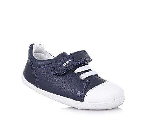 BOBUX - Blauer Step Up Scribble Schuh aus Leder, made in New Zealand, mit Klettverschluss, elastische Schnürsenkel, Baby Jungen-18