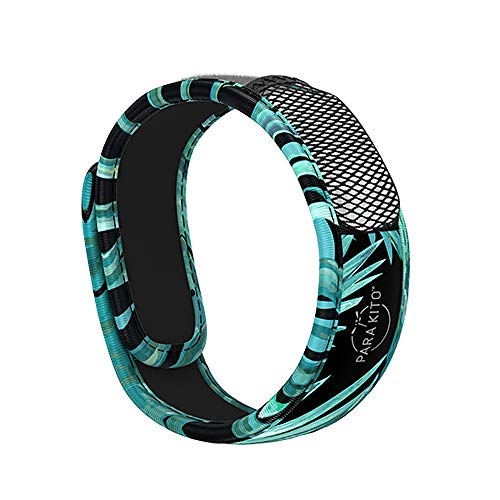 PARA'KITO Mosquito Insect & Bug Repellent Wristband - Waterproof, Outdoor Pest Repeller Bracelet w/ Natural Essential Oils (Dark Explorer)