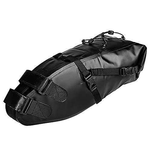 YWCH Tasche, Langstrecken-Reitsattel-Tasche, verschleißfeste rutschfeste Material, hochfrequente Spannungstechnik, Rucksackseilschnalle, verstärkte Nähte, schwarz