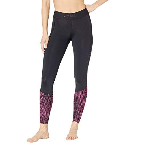 2XU Collant Accelerate Comp pour Femmes Fushia Noir - Léger - Réduction de la Fatigue et des douleurs Musculaires