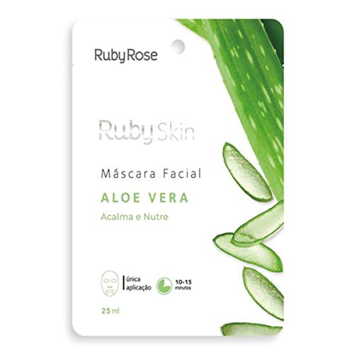 Máscara Facial De Tecido Skin Ruby Rose ALOE VERA HB-703