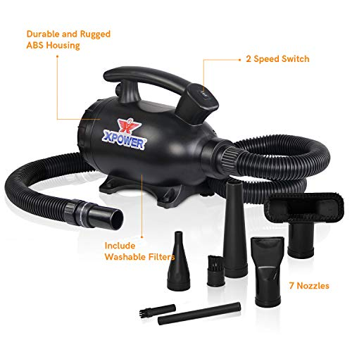 XPOWER A-5 Multi Eletric Duster Dryer Blower Air Pump Compressed Air Duster Vacuum (Black)