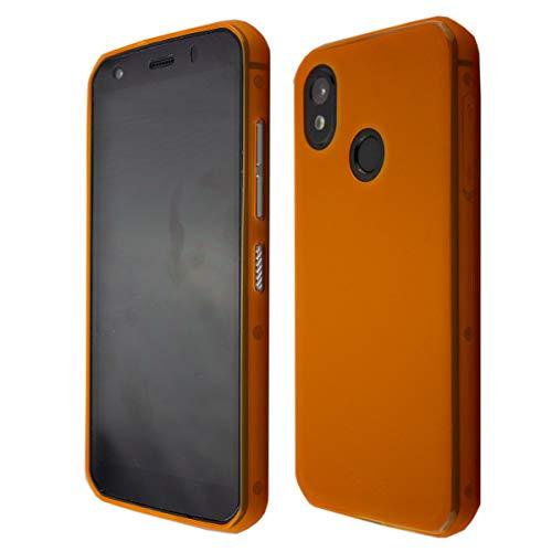 caseroxx TPU-Hülle für Cat S52, Handy Hülle Tasche (TPU-Hülle in orange)