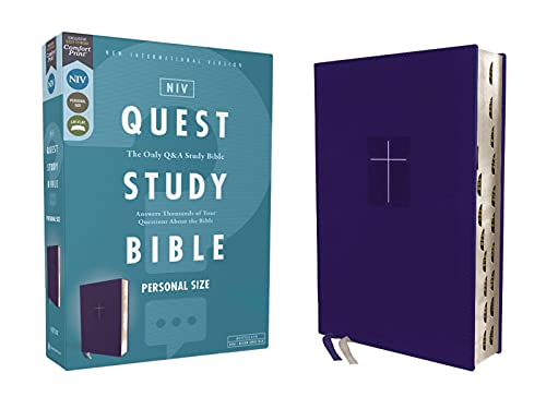 Quest Study Bible: New International Version, Blue, Leathersoft, Comfort Print, the Only Q and a Study Bibleの詳細を見る