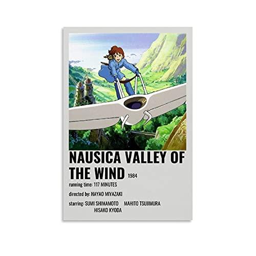 Juliyeh Nausicaa Anime Poster di Nausicaä della Valle del Vento Poster decorativo su tela da parete per soggiorno, camera da letto, 20 x 30 cm