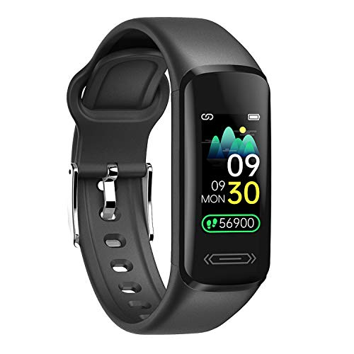 Fitness Tracker,Activity Tracker for Women Men Kids,with Heart Rate Monitor and Skin&Body Temperature,IP68 Waterproof Smart Watch Support Android iOS Phone
