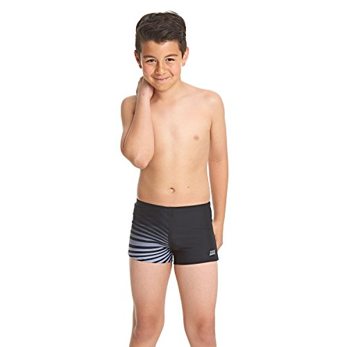 Zoggs Jungen Badehose Diego, Black/Grey, 116, 605218023