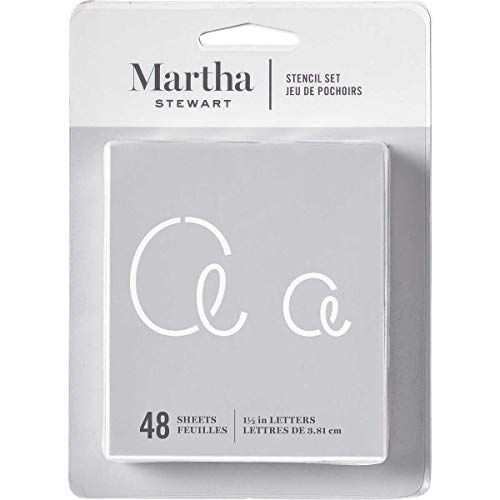 Martha Stewart Crafts Alphabet Stencil, 32273 Looped Script