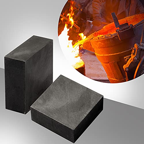 2 Packs Graphite Ingot Block 99.9% High Purity EDM Graphite Plate Graphite Blank Milling Surface Melting Casting Mould (50mm x 50mm x 20mm)