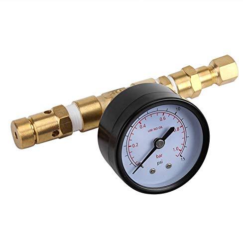 FSGSD Kegging-Ausrüstung, Haushaltsbierbrauen einstellbares Überdruckventil mit Messgerät 0~15 PSI zum Bierbrauen