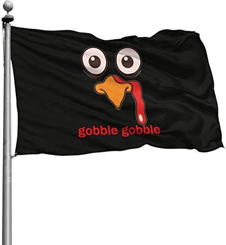 Viplili Banderas, 3x5 Feet -Polyester Flags Gobble Thanksgiving Turkey Flag,Yard Holiday and Seasonal Garden Flag Set