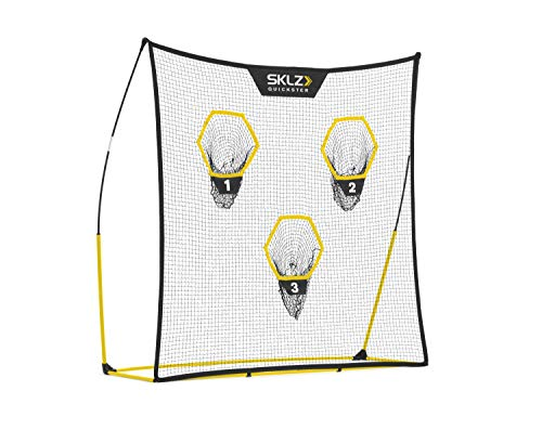 SKLZ Quickster Portable Football Training Net for Quarterback Passing Accuracy (7x7 Feet)