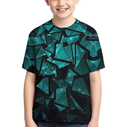 YYTY T-Shirt Arte Astratta Maglietta Girocollo per Bambini Estate Giovanile T-Shirt Manica Corta Moda per Ragazzi