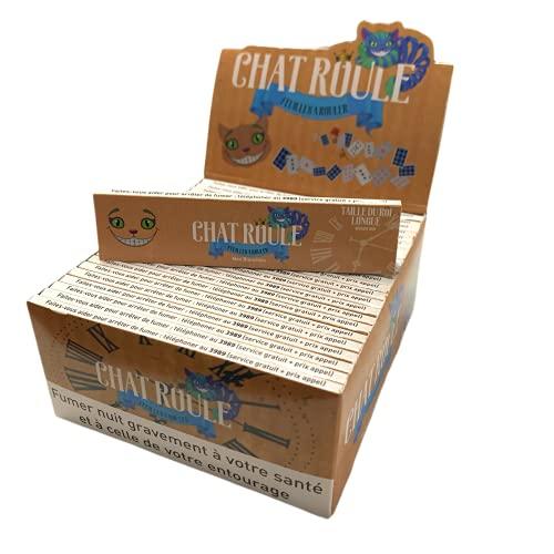 Chat Roule Slim Non Blanchi - Boite 50 Paquets de Feuille Slim Non Blanchi
