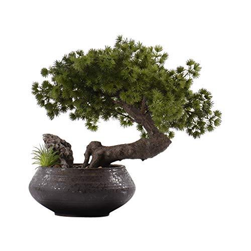 Albero Artificiale Nuovo cinese falso albero bonsai simulazione albero giardino giardino decorazione domestica decorazione di simulazione albero in vaso verdure pianta finta 13,77 pollici Albero Artif