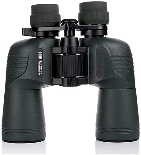 LXHJZ Binoculares Lente óptica Prisma BAK4 telescopio observación Aves Caza Alta Potencia binoculares 10-30X50 para Interior/Exterior