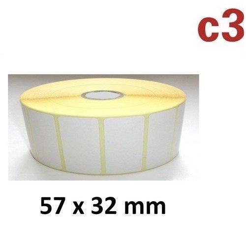 57×32 mm thermoetiketten rolle mit