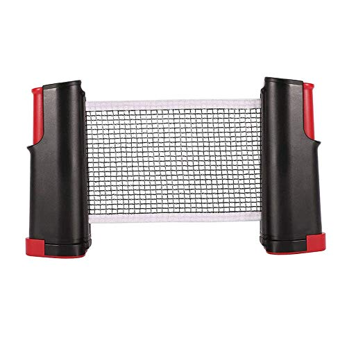 YGHH Red Retráctil Ajustable, Red de Ping Pong, Redes de Tenis de Mesa, Nylon Simple Portátil Marco de Red Tenis Mesa Telescópico para Todas Las Mesas Tenis Mesa Al Aire Libre o En Interiores