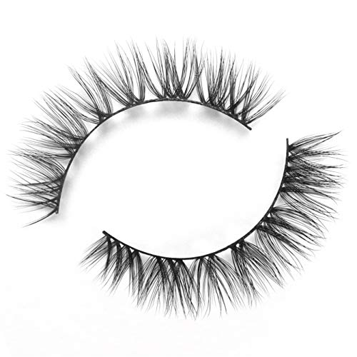 BEPHOLAN False Eyelashes| 0.05mm Thickness Synthetic Fiber Material| 3D Faux Mink Lashes| Natural Look| Reusable| 100% Handmade& Cruelty-free| 1 Pair without Glue| XMZ87