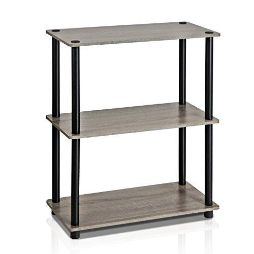 Haton Bookshelf, 5-Tier Wood Bookcase with Metal Frames, 5-Shelf Industrial Storage Shelf Organizer, Modern Tall Display Shelf Racks Open Wide Standing Shelving Unit for Home Office Study 62-inch