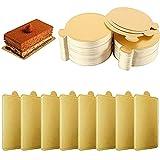 200 Piezas Cartón para Tartas, Base de Pastel, Bandeja de Mousse, Bandeja...