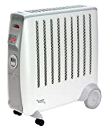 Features a 2 KW heat output Choice of two heat settings - via twin panel technology Thermostat with frost setting Featrues a 24 hour programmable timer Cable tidy and easy glide castors Five year guarantee