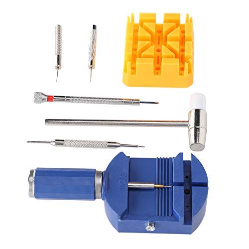 Herramienta De Reparación De Relojes, Kit De Herramientas De Reparación De Relojes Martillo De Doble Cabeza Extractor De Pasadores De Enlace Fácil De Usar Plástico Metálico para El Hogar