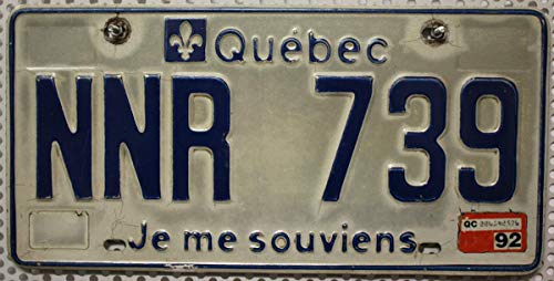 KANADA_Auswahl_von_Fahrzeugschildern Kanada Nummernschild Quebec Auto-Kennzeichen, KFZ Metall-Schild aus Nordamerika, Canada License Plate