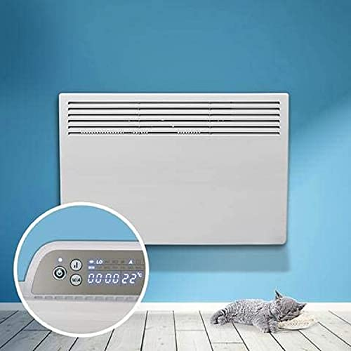 Devola Eco Electric Panel Convector Heater, 24 Hour 7 Day Digital Timer With Built In Thermostat, Domestic and Commercial Use, Frost Protection (1500W, White)