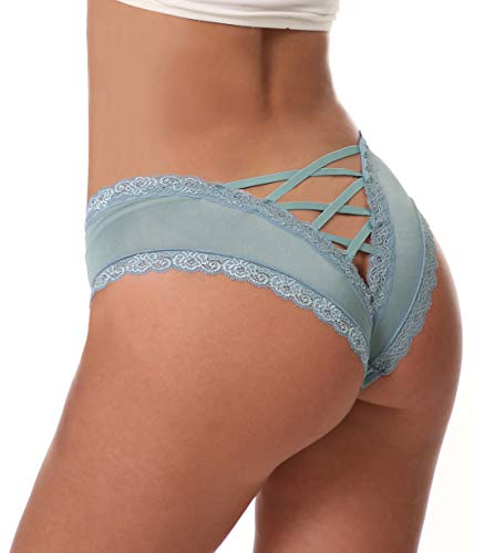 Sofishie Sexy V-Back Criss Cross Panties - Green - Large