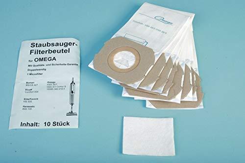 10 Staubsaugerbeutel passend für Omega Contour Serie, sowie HSS 9/3, 26/1 u.a. - Ersatz für Swirl O 87