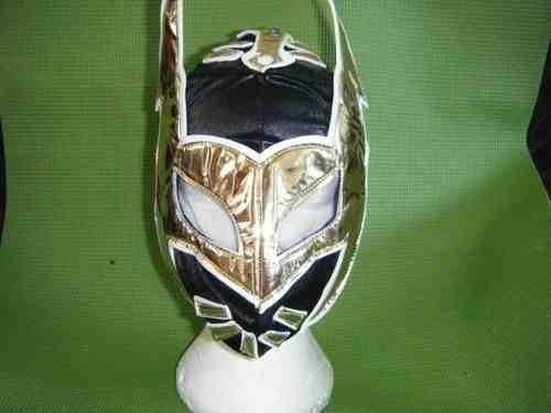 Nero Sin Cara Maschera Lottatore Wrestling per Bambini Messicano Ragazzi Wwe Wwf Costume Serie Cosplay Ruolo Messicano Luchalibre Nuovo