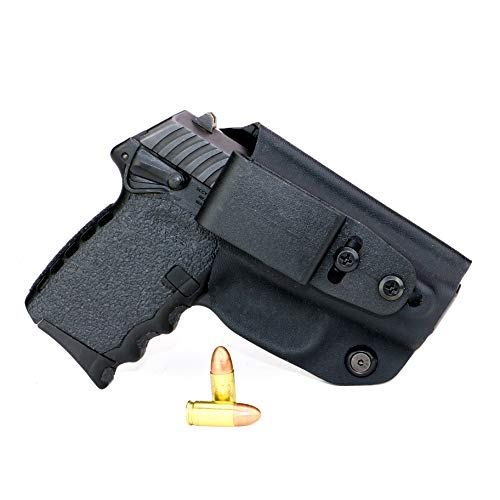 FoxX Holsters Deluxe Trapp Kydex IWB Holster - SCCY CPX-1 & CPX-2 Our Smallest Inside Waistband Holster Adjustable Cant & Retention, Conceal Carry (Black)