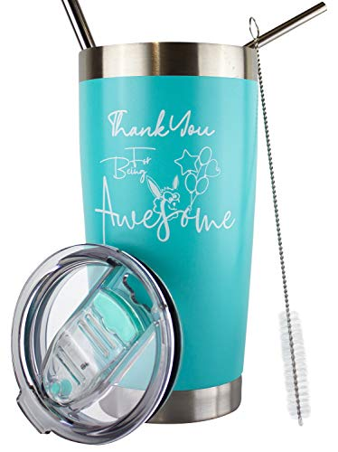 best gifts for co workers under 50 Thank You For Being Awesome Tumbler   Thank You Gifts For Coworkers   Best Gifts For Employees   Coworker Gifts For Women   Employee Appreciation Gifts   Teacher Appreciation Gifts   20 Oz (Teal)