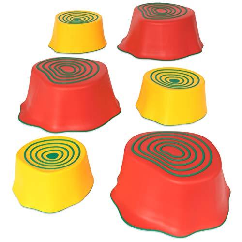 edxeducation Step-a-Trail - Carrera de obstáculos de 6 piezas para niños - Interior y exterior - Construir coordinación y confianza - Juego físico e imaginativo