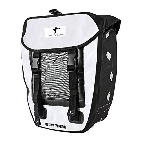 Red Loon tas wit/zwart bagagedragertas achtertas waterdicht